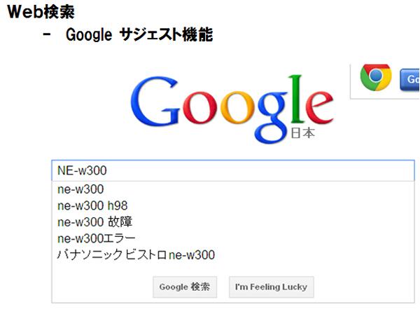 Google Sugest機能