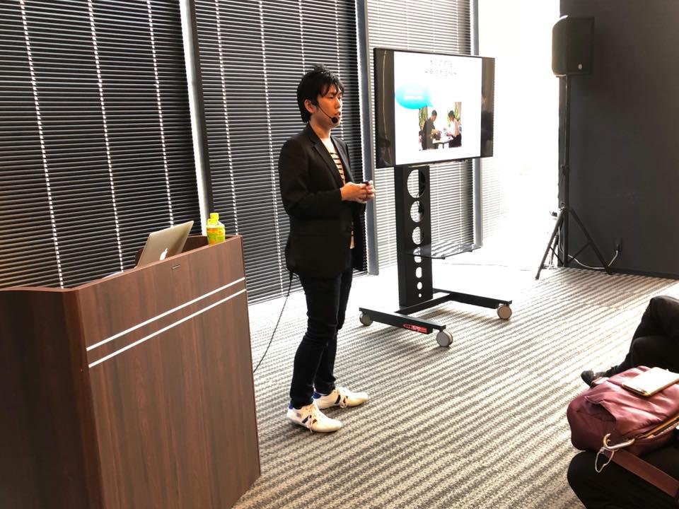 カメラマン向けのウェブブランディング講演中の様子